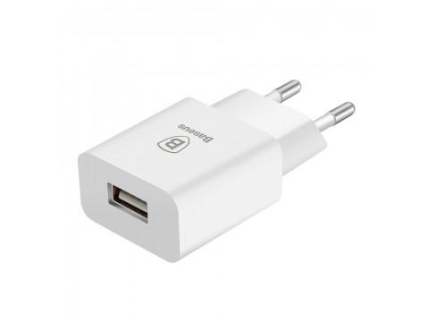 BASEUS WALL CHARGER LETOUR 1X USB WHITE