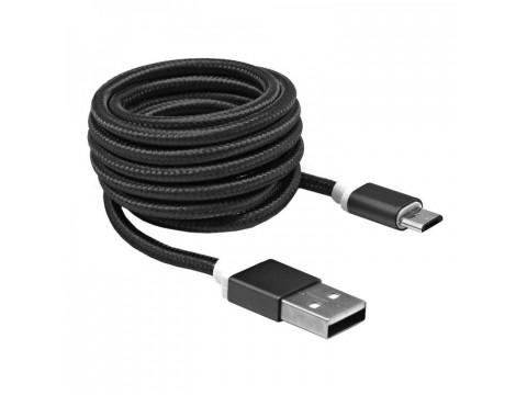 KABEL SBOX USB->MICRO USB M/M 1,5M USB-10315B, CRNI
