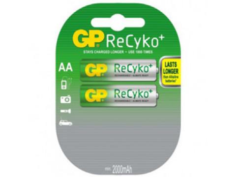 GP PUNJIVE BATERIJE Recyko+ 2 x R06, 2000 mAh (NAPUNJENE) Ni-Mh; AA
