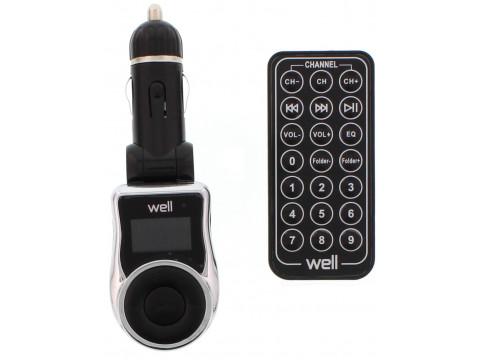 WELL FM MP3 TRANSMITTER BLACK