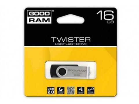 GOODRAM TWISTER USB MEMORIJA 16GB USB2.0 BLACK