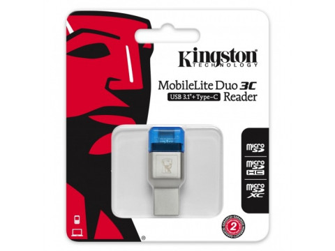 KINGSTON MOBILELITE DUO 3C USB3.1+TypeC microSDHC/SDXC