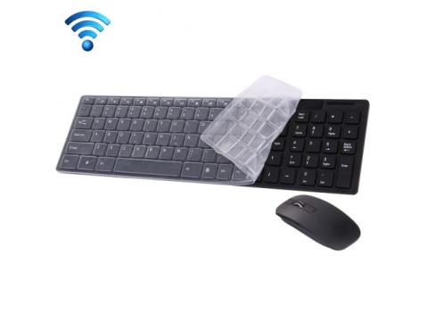 BEŽIČNA TIPKOVNICA JK-906 102 TIPKE I BEŽIČNI MIŠ USB, CRNI (NEMA HR SLOVA)