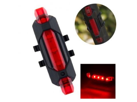AQY-093 STRAŽNJA USB LAMPA ZA BICIKL RED