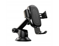 BASEUS CAR MOUNT GRAVITY OSCULUM WITH WIRELESS CHARGING FUNCTION BLACK