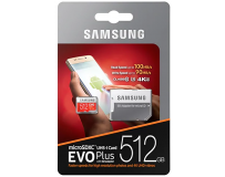 SAMSUNG MICRO SD MEMORIJA 512GB EVO PLUS CL10 + ADAPT SD