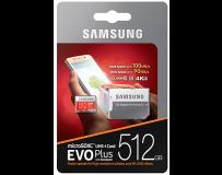 SAMSUNG MICRO SD MEMORIJA 512GB EVO PLUS CL10 + ADAPT SD
