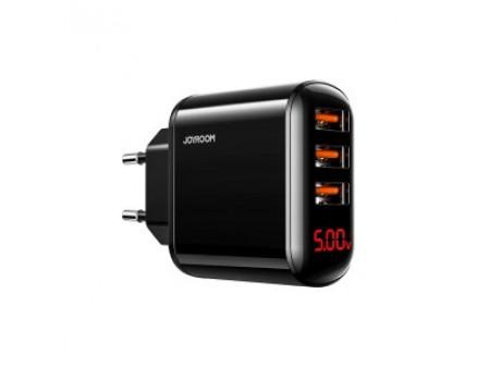 JOYROOM HKL-USB59 WALL CHARGER 3.4A 3USB BLACK