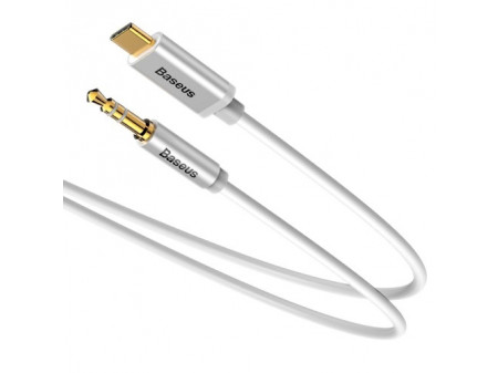 BASEUS AUDIO CABLE YIVEN M01 USB TYPE-C TO MINI JACK 3,5MM 1,2M WHITE
