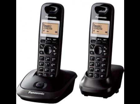 PANASONIC KX-TG 2512 FIKSNI BEŽIČNI TELEFON S DVIJE SLUŠALICE CRNI
