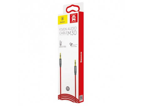 BASEUS AUDIO CABLE YIVEN M30 3,5MM TO 3,5MM 0,5M RED/BLACK