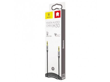BASEUS AUDIO CABLE YIVEN M30 3,5MM TO 3,5MM 0,5M SILVER/BLACK