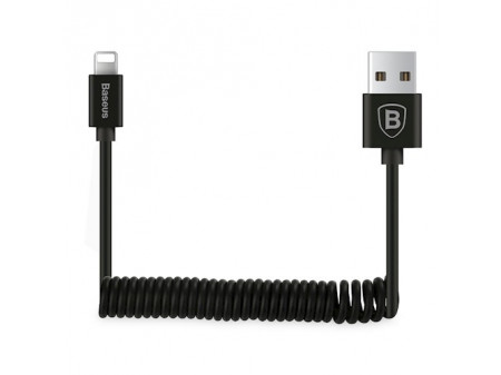 BASEUS CABLE ELASTIC 8-PIN BLACK