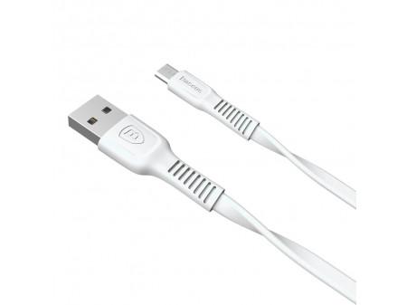 BASEUS CABLE TOUGH MICRO USB 1M 2A WHITE