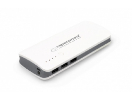 ESPERANZA POWER BANK EMP106WE RADIUM 8000mAh WHITE/GREY