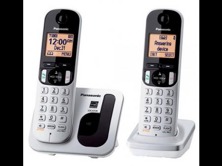 PANASONIC KX-TG C 212 FIKSNI BEŽIČNI TELEFON S DVIJE SLUŠALICE CRNO BIJELI