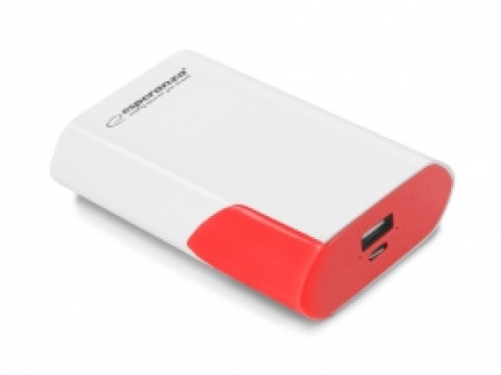 ESPERANZA POWER BANK EMP111WR BOSON 6000mAh WHITE/RED
