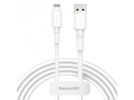 BASEUS CABLE MINI (8-PIN | 1M) 2.4A WHITE