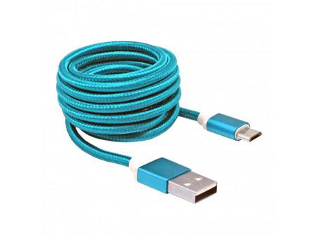 KABEL SBOX USB->MICRO USB M/M 1,5M USB-10315BL, PLAVI
