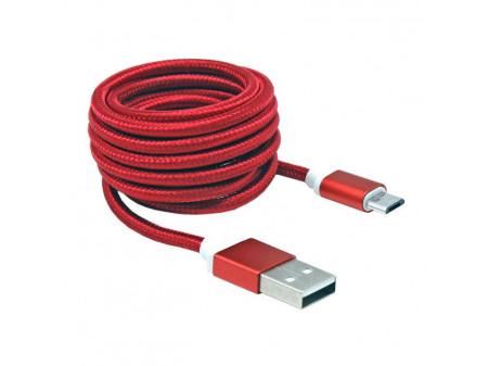 KABEL SBOX USB->MICRO USB M/M 1,5M USB-10315R, CRVENI