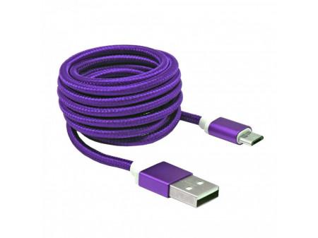 KABEL SBOX USB->MICRO USB M/M 1,5M USB-10315U, LJUBIČASTI