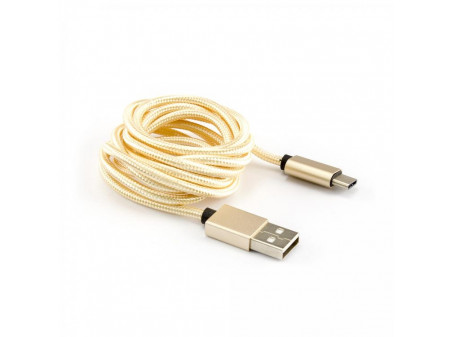 KABEL SBOX USB -> USB TYPE C M/M 1,5M ZLATNI