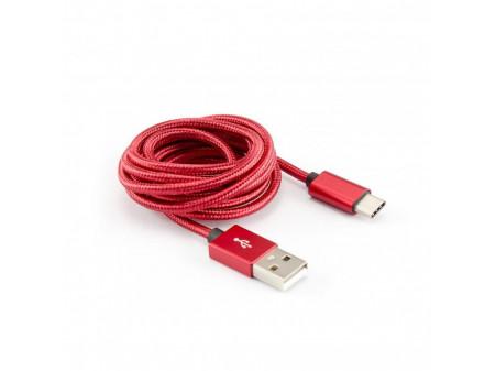 KABEL SBOX USB -> USB TYPE C M/M 1,5M CRVENI