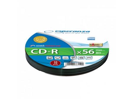 ESPERANZA CD-R SOFT BOX MEDIJI 10 PCS