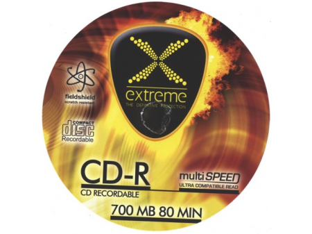 EXTREEM CD-R MEDIJI 10/1; 700 MB, value pack, 52x