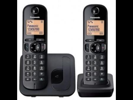 PANASONIC KX-TG C 212 FIKSNI BEŽIČNI TELEFON S DVIJE SLUŠALICE CRNI