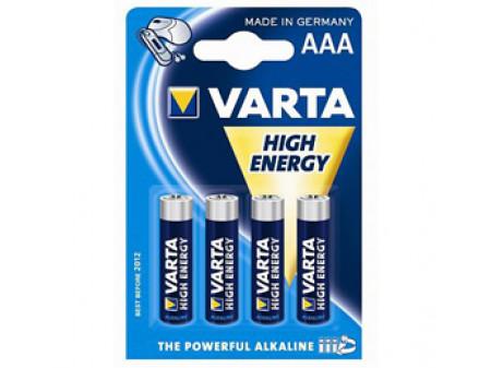VARTA High Energy alkalna baterija, 4 x LR03 (AAA) 1,5 V, mikro, blister