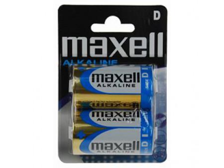 MAXELL ALKALNE BATERIJE 2 x LR20 (D) 1,5 V, amerikanka, blister