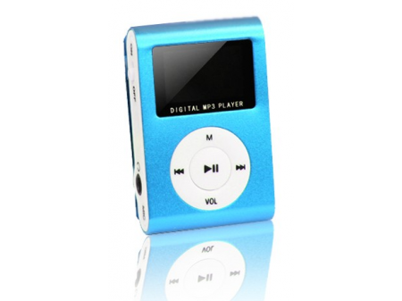 SETTY MP3 PLAYER + SLUŠALICE, PLAVI