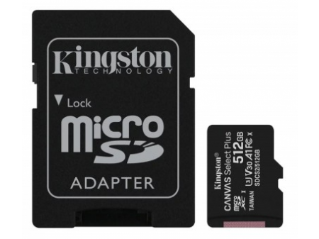 KINGSTON MICROSD 512GB CLASS10 CANVAS SELECT PLUS 100 MB/s