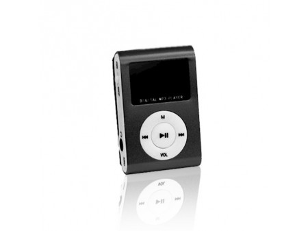 SETTY LCD MP3 PLAYER + SLUŠALICE, CRNI