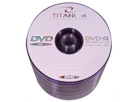 TITANUM DVD-R MEDIJI 100/1 4,7 Gb, value pack, 16x