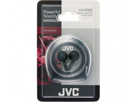JVC IN-EAR HA-F10C SLUŠALICE, CRNE
