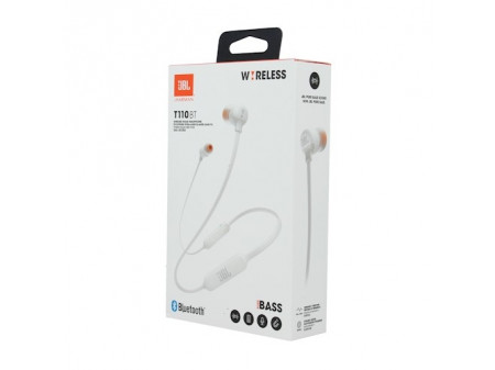 JBL BLUETOOTH WIRELESS SLUŠALICE T110BT WHITE
