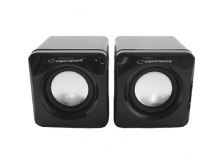 ESPERANZA ZVUCNICI 2.0 LEGGIERO EP111 Cube USB - 2X3W, 3,5mm izlaz, black