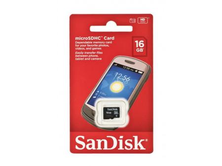 SANDISK MEMORIJSKA KARTICA microSDHC 16GB, CLASS 4