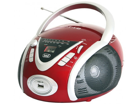 TREVI CMP 542 PRIJENOSNI RADIO CD / MP3 PLAYER RED