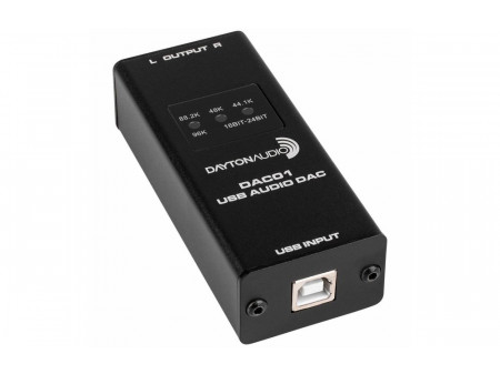 DAYTON AUDIO DAC01 USB AUDIO DAC 24-BIT/96 KHZ RCA OUTPUT - 24-BITNI / 96 KHZ RCA IZLAZ