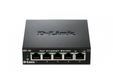 D-LINK 5-Port FAST ETHERNET DESKTOP SWITCH DES-105/E