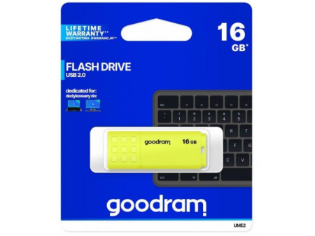 GOODRAM UME2-0160Y0R11 16GB USB2.0 YELLOW
