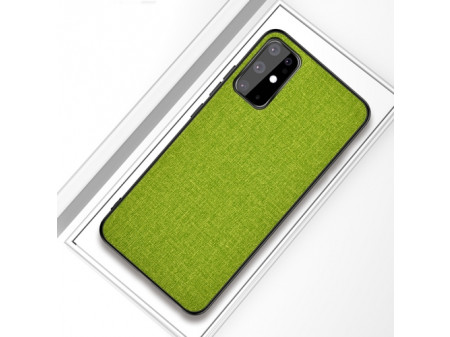 ZADNJA MASKA CLOTH ZA SAMSUNG GALAXY S20+ GREEN