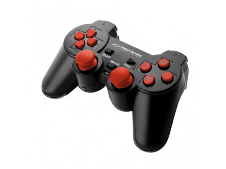 ESPERANZA GAMEPAD EGG106R CORSAIR ZA PS2/PS3/PC, BLACK/RED