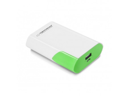 ESPERANZA POWER BANK EMP111WG BOSON 6000mAh WHITE/GREEN
