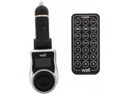 WELL FM MP3 TRANSMITTER BLACK