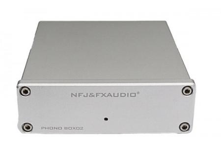 FX-AUDIO BOX02 PHONO MM/MC PREAMPLIFIER NJM2068 TL071 - PRETPOJAČALO