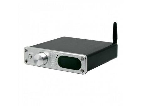 FX-AUDIO D502BT POJAČALO 2X60W/4OHM, SUBWOOFER OUTPUT, DAC, BLUETOOTH 5.0, COAXIAL, OPTICAL, USB ULAZI, REMOTE SILVER